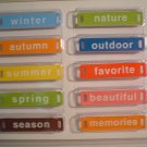 Seasons Word Plates - Elements #2