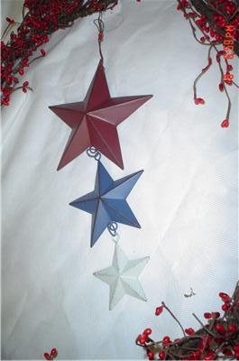 Triple Country Primitive Americana Barn Star Hanger