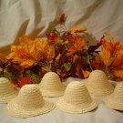 One Dozen Doll Size Straw Hats