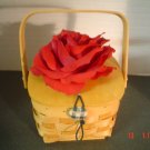 DEEP RED ROSE BASKET/PURSE - Just Reduced!