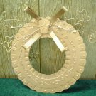COPPER METAL CHRISTMAS WREATH~MODERN DECOR