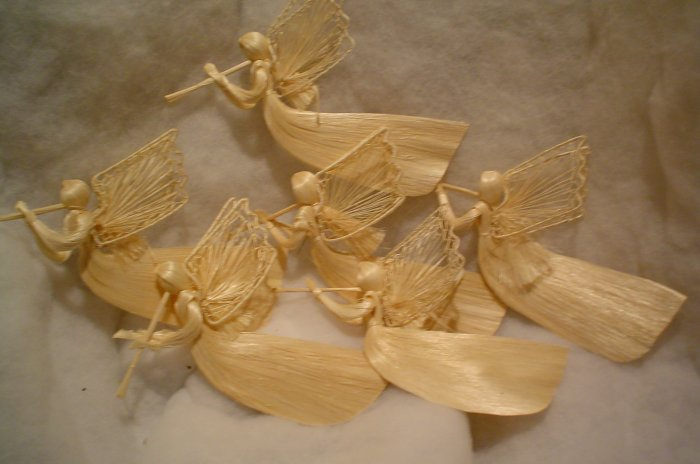 (6) LARGE ABACCCA ANGEL ORNAMENTS~READY TO USE
