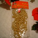 Gold Bead Tree Garlands 9 Foot