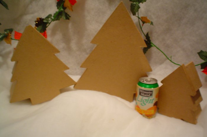 Paper Mache Christmas Tree Boxes Large