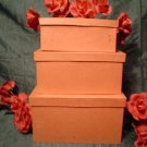 PAPER MACHE LARGE RECTANGLE  BOX SET - Ready to Paint