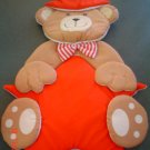 Patriotic Teddy Bear Wall or Door Hanging- Fabric Decoration
