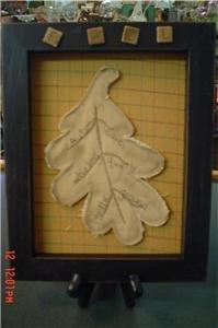 Primitive Leaf Plaque for Fall Decorating