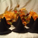 SIX DOLL SIZE FELT WITCH HATS~FALL DECORATING