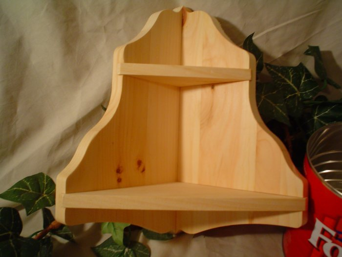 UNFINISHED WOOD CORNER SHELF~READY TO PAINT~NEW ITEM!