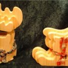UNFINISHED WOOD REINDEER AND SLEIGH PUZZLE PLAQUES