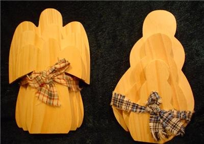 Wooden Angel puzzle plaques and a set of Wooden Snowmen Puzzle Plaques