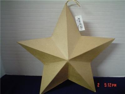 HUGE PAPER MACHE 3D BARN STAR