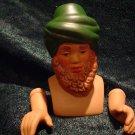 Porcelain Green Turbin Wiseman Doll Kit~ Head 3 inch & Hands