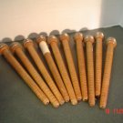 Vintage set of Ten Candle Size Thread Spools