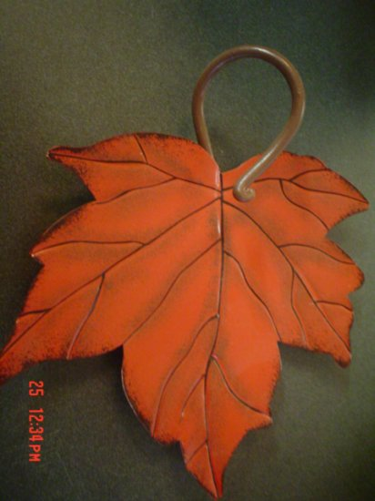 Large Red Maple Leaf Candle Pan or Plaque