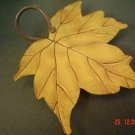 Large Mustard Yellow Maple Leaf Candle Pan or Plaque