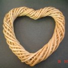 TWO HEART SHAPED WILLOW WREATHS~DECORATIONS~WREATHS