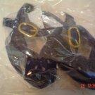 Dark Blue Velveteen Doll Shoes - Sling Back - Size Four
