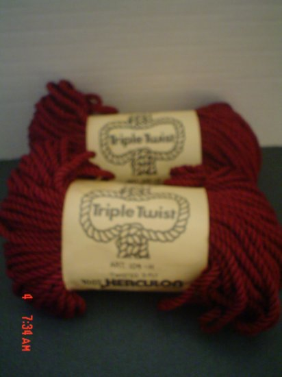 Two Packs of 3-Ply Triple Twist by Lily - 50 Yards - Macrame