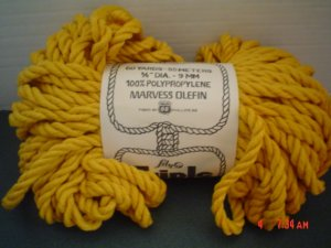 Triple Giant Yellow Knotting Cord by Lily - 60 Yards - Macrame