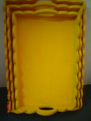 Set of Sunny Yellow Trays - Paint or Display