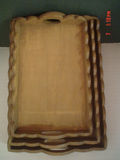 Set of Warm Brown Trays - Paint or Display