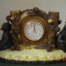 Desktop Lodge Black Bear Clock