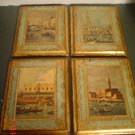 Vintage Florentine Rectangle Shaped Plaques from Italy