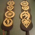 Horse Brasses with black leather for mounting