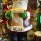 Large Resin Santa with List