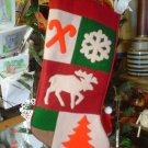 Christmas Heavy Felt Moose Stocking