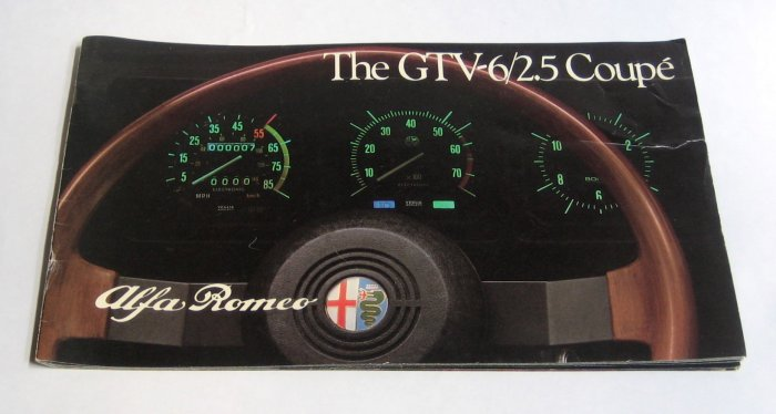 1983 Alfa Romeo Dealer Brochure - The GTV6/2.5 Coupe - Full Color - 16 Pages
