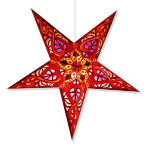 Celtic Star Lantern in Red