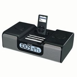 Clock Radio for iPod-Black-SDI Technologies
