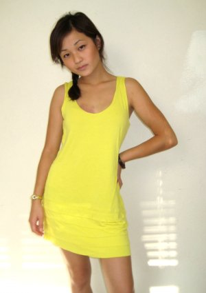 FOREVER 21 Sunshine Flapper-Style Tank Dress (
