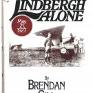 Brendan Gill Book Lindbergh Alone U.S. First Edition 1977