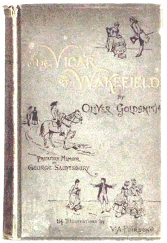 Oliver Goldsmith Book The Vicar of Wakefield 1889