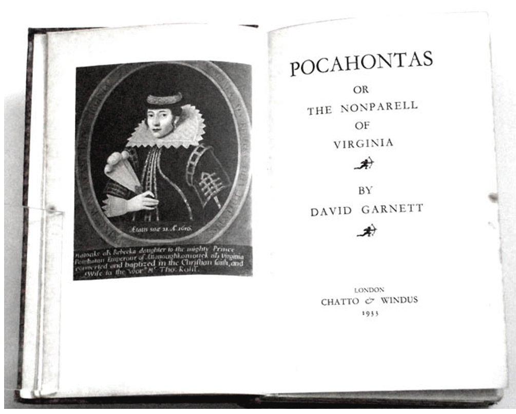 David Garnett Book Pocahontas First Edition 1933