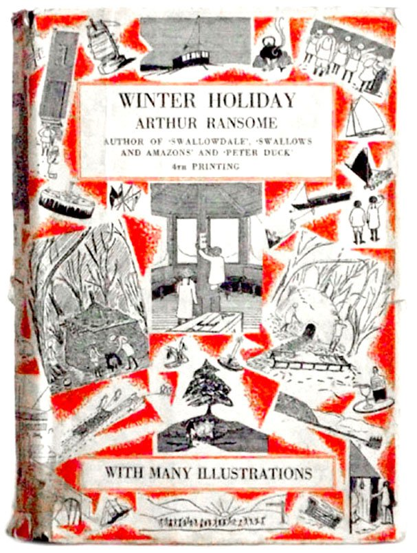 Arthur Ransome Book Winter Holiday First Edition Fourth Impression 1936
