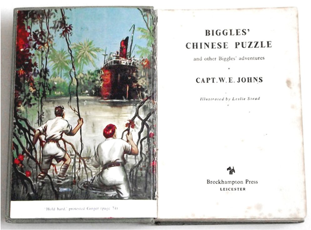 W.E. Johns Biggles' Chinese Puzzle First Edition Book 1955
