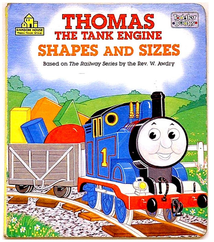 Christopher Awdry Thomas the Tank Shapes and Sizes 1991 Signed Book