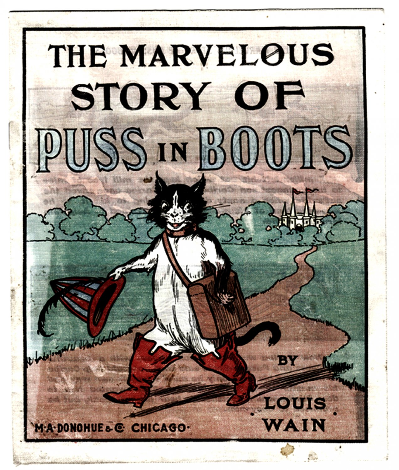 Louis Wain The Marvellous Story of Puss in Boots circa 1904