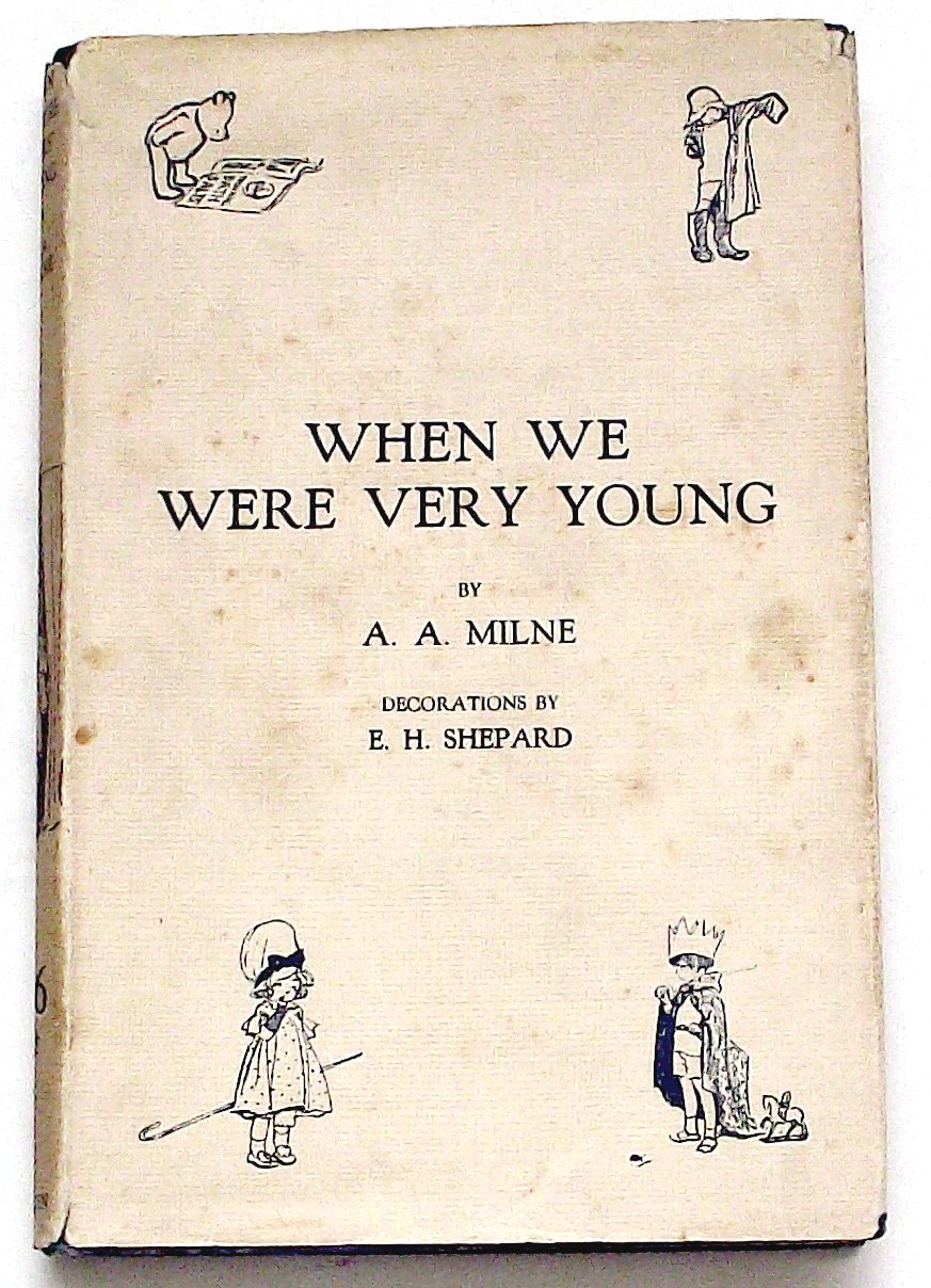 A.A. Milne Winnie the Pooh Book When We Were Very Young 1925 with Rare Dust Jacket