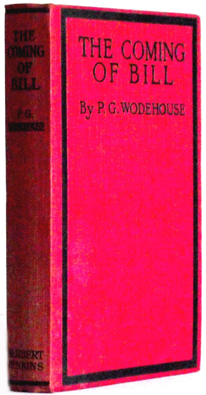 P.G. Wodehouse The Coming of Bill Early Ninth Edition Pre-1926