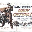 Walt Disney Davy Crockett Original U.S. One Sheet Poster 1955
