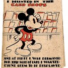 Walt Disney Mickey Mouse Birthday Card with Envelope Postmark 1935