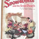 Walt Disney Snow White and the Seven Dwarfs Authorised Book circa 1938