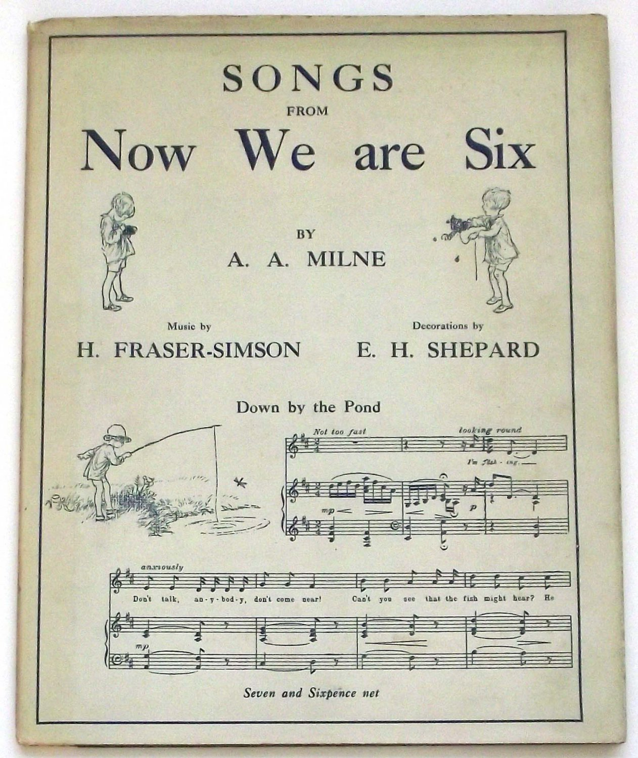 A.A. Milne Winnie the Pooh Book Songs From Now We Are Six First Edition 1927 with Rare Dust Jacket