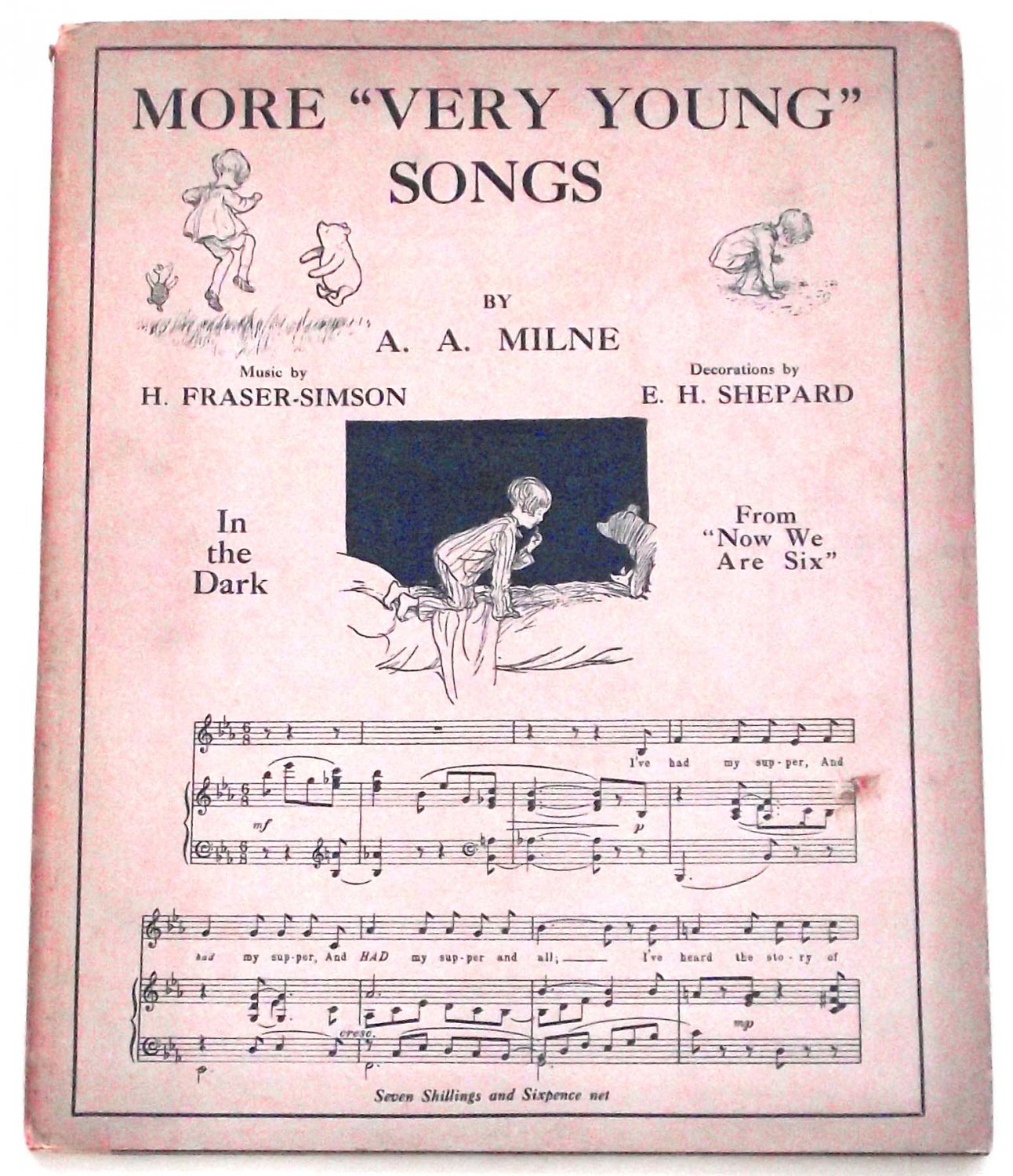 A.A. Milne Winnie the Pooh Book More Very Young Songs First Edition Book 1928