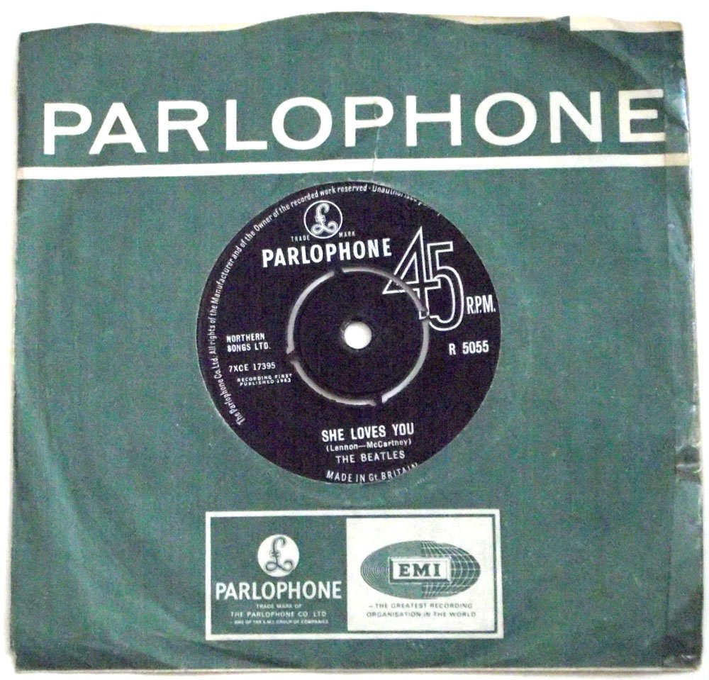 The Beatles She Loves You & I�ll Get You Parlophone R 5055 Single First Pressing 1963
